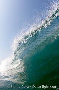 Breaking wave, morning surf, curl, tube. Ponto, Carlsbad, California, USA, natural history stock photograph, photo id 20884