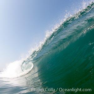 Breaking wave, morning surf, curl, tube. Ponto, Carlsbad, California, USA, natural history stock photograph, photo id 20885