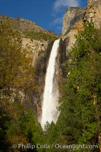 Bridalveil Falls. Bridalveil Falls, Yosemite National Park, California, USA, natural history stock photograph, photo id 12644