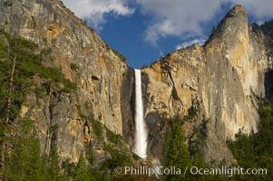 Bridalveil Falls. Yosemite National Park, California, USA, natural history stock photograph, photo id 12647