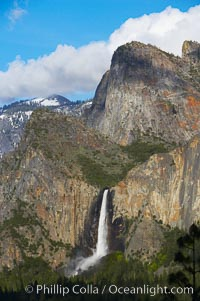 Bridalveil Falls. Bridalveil Falls, Yosemite National Park, California, USA, natural history stock photograph, photo id 12659