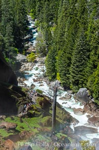 The Merced River viewed from atop Vernal Falls. Yosemite National Park, Spring