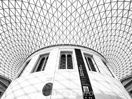 British Museum central foyer and ceiling. British Museum, London, United Kingdom, natural history stock photograph, photo id 28324