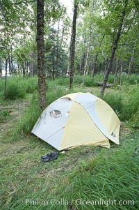 My campsite, Brooks Camp, Katmai National Park, Alaska
