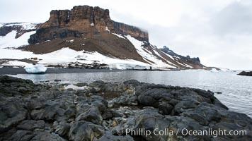 Brown Bluff and rocky coastline, intertidal zone