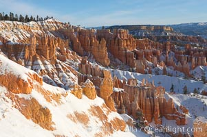 Bryce Canyon hoodoos line all sides of the Bryce Amphitheatre. Bryce Canyon National Park, Utah, USA, natural history stock photograph, photo id 18636
