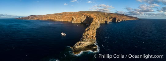 Cabo Pearce on Socorro Island, aerial photo, Revillagigedos Islands, Mexico. Socorro Island (Islas Revillagigedos), Baja California, natural history stock photograph, photo id 32905