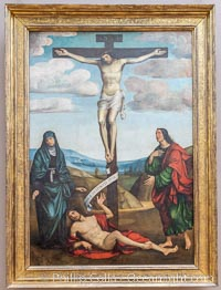 Calvary with St. Job at the Foot of the Cross, 1514, Francesco Francia, Mus�e du Louvre, Paris, Musee du Louvre