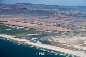Camp Pendleton and Santa Margarita River, Pacific coastline, north of San Diego county and the city of Oceanside.  Marine Corps Base Camp Pendleton. California, USA, natural history stock photograph, photo id 26000