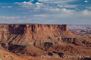 Canyonlands National Park view over Island in the Sky. Canyonlands National Park, Utah, USA, natural history stock photograph, photo id 27842