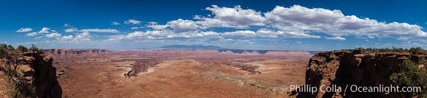 Canyonlands National Park panorama. Canyonlands National Park, Utah, USA, natural history stock photograph, photo id 27819