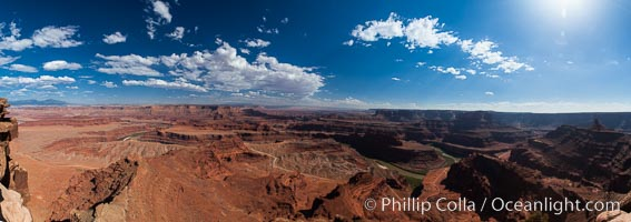 Canyonlands National Park panorama. Canyonlands National Park, Utah, USA, natural history stock photograph, photo id 27821