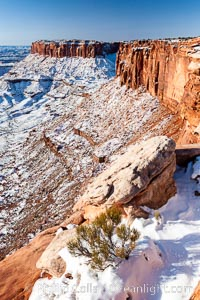 Canyonlands National Park, winter, viewed from Grandview Point.  Island in the Sky