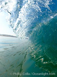 Cardiff morning surf, breaking wave. Cardiff by the Sea, California, USA, natural history stock photograph, photo id 23297
