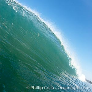 Cardiff morning surf, breaking wave. Cardiff by the Sea, California, USA, natural history stock photograph, photo id 23299