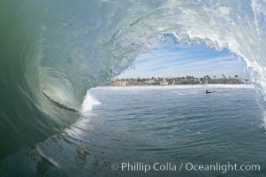 Cardiff, morning surf. Cardiff by the Sea, California, USA, natural history stock photograph, photo id 17879