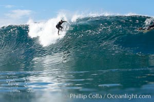Image 17781, Tony Gatti, Ponto, South Carlsbad, morning surf. California, USA, Phillip Colla, all rights reserved worldwide. Keywords: breaker, california, carlsbad, coast, crest, foam, ocean, pacific, pacific ocean, ponto, sea, shore, splash, spray, surf, surfer, surfing, surge, swell, usa, wave, waves.