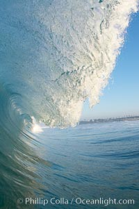 Ponto, South Carlsbad, morning surf. California, USA, natural history stock photograph, photo id 17833