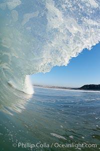 Ponto, South Carlsbad, morning surf. California, USA, natural history stock photograph, photo id 17836