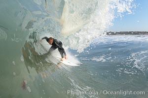 Ponto, South Carlsbad, morning surf. California, USA, natural history stock photograph, photo id 17859