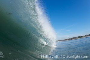 Ponto, South Carlsbad, morning surf. California, USA, natural history stock photograph, photo id 17863