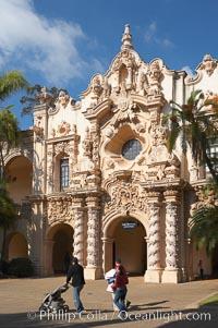 Casa del Prado, South Facade. Balboa Park, San Diego, California, USA, natural history stock photograph, photo id 14610