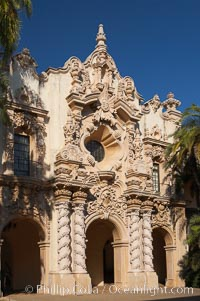 Casa del Prado, South Facade. Balboa Park, San Diego, California, USA, natural history stock photograph, photo id 14616