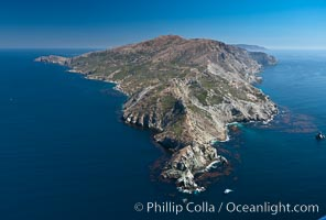 Aerial photo of Catalina Island, West End