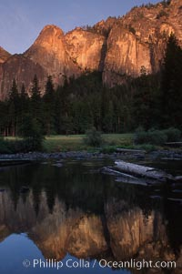 Cathedral Rocks, Merced River, Yosemite National Park, California
