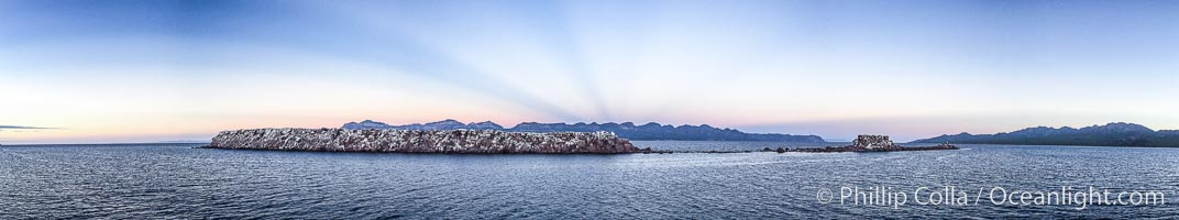 Cayo Island, sunrise panorama, Sea of Cortez, Mexico