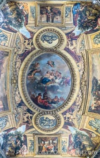 Ceiling Detail in Chateau de Versailles, Paris