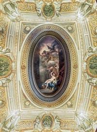 Ceiling detail Kensington Palace. Kensington Palace, London, United Kingdom, natural history stock photograph, photo id 28294