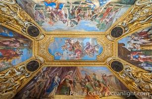Ceiling detail, Mus�e du Louvre, Musee du Louvre, Paris, France