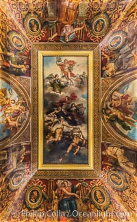 Ceiling detail, Musee du Louvre. Musee du Louvre, Paris, France, natural history stock photograph, photo id 28036