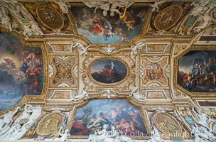 Ceiling detail, Musee du Louvre. Paris, France, natural history stock photograph, photo id 28040
