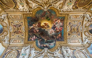 Ceiling detail, Musee du Louvre. Musee du Louvre, Paris, France, natural history stock photograph, photo id 28043