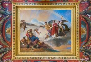 Ceiling detail, Musee du Louvre, Paris, France