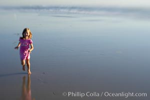 Child on the beach. Ponto, Carlsbad, California, USA, natural history stock photograph, photo id 14464