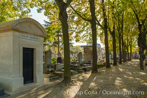 Cimetiere du Montparnasse. Montparnasse Cemetery is in the Montparnasse quarter of Paris, part of the city's 14th arrondissement. Cimetiere du Montparnasse, Paris, France, natural history stock photograph, photo id 28177