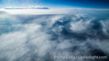 Clouds and sky over Iceland, aerial photo