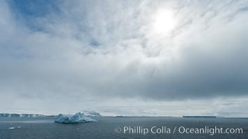 Clouds and icebergs, Antarctic Sound