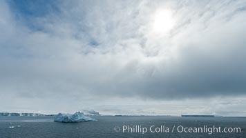 Clouds and icebergs, Antarctic Sound. Antarctic Sound, Antarctic Peninsula, Antarctica, natural history stock photograph, photo id 24876