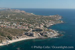 Residential and resort development along the coast near Cabo San Lucas, Mexico. Baja California, natural history stock photograph, photo id 28902