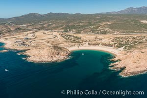 Bahia Santa Maria. Residential and resort development along the coast near Cabo San Lucas, Mexico