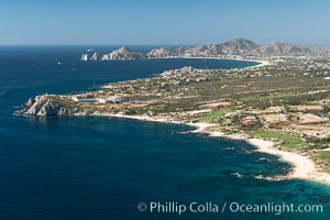 Residential and resort development along the coast near Cabo San Lucas, Mexico. Cabo San Lucas, Baja California, Mexico, natural history stock photograph, photo id 28926