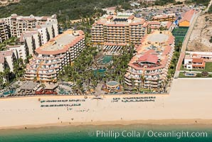 Villa del Palmar along Medano Beach. Residential and resort development along the coast near Cabo San Lucas, Mexico. Cabo San Lucas, Baja California, Mexico, natural history stock photograph, photo id 28940
