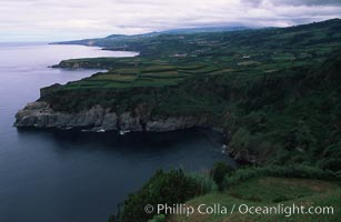 Coastline on Sao Miguel Island. Sao Miguel Island, Azores, Portugal, natural history stock photograph, photo id 05472
