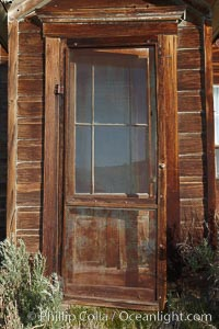 Cody House, dilapitated front door, Bodie State Historical Park, California