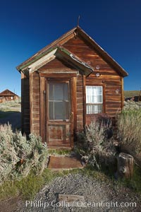 Cody House, front door. Bodie State Historical Park, California, USA, natural history stock photograph, photo id 23166