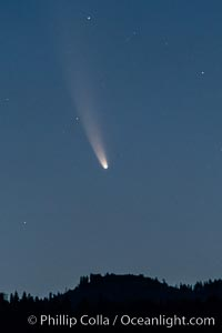 Comet NEOWISE over Bass Lake, California